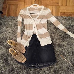 Madewell Button Front Stripe Cardigan